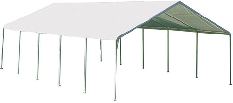ShelterLogic 26767 Super Max 18 ft. x 30 ft. White Premium Canopy - ShelterMall