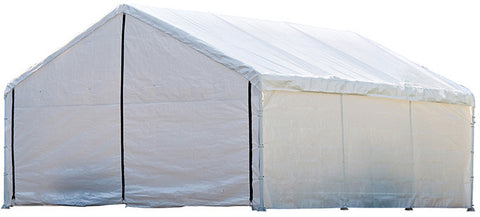 ShelterLogic 26775 Super Max 18 ft. x 20 ft. White Canopy Enclosure Kit Fits 2 in. Frame - ShelterMall - 1