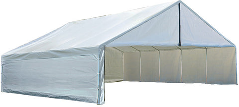 ShelterLogic 27775 Ultra Max 30 ft. x 30 ft. White Industrial Canopy - ShelterMall