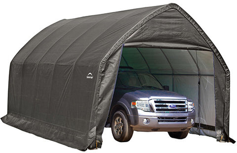 ShelterLogic 62693  Garage-In-A-Box 13x20x12 ft.Peak Style for SUV/Truck -Gray - ShelterMall - 1