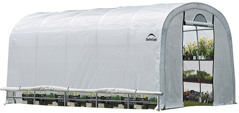 ShelterLogic 70592 GrowIt Heavy Duty Walk-Thru Greenhouse Round-Style 12 ft. x 20 ft. x 8 ft. - ShelterMall
