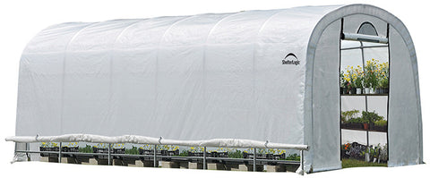ShelterLogic 70593 GrowIt Heavy Duty Walk-Thru Greenhouse Round-Style 12 ft. x 24 ft. x 8 ft. - ShelterMall