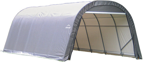 ShelterLogic 71332 12x20x8 ft.  Round Style  Shelter- Gray - ShelterMall