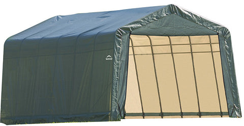 ShelterLogic 72444 12x24x8 ft. Peak Style Shelter- Green - ShelterMall