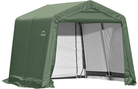 ShelterLogic 72824 10x16x8 ft.  Peak Style Shelter- Green - ShelterMall