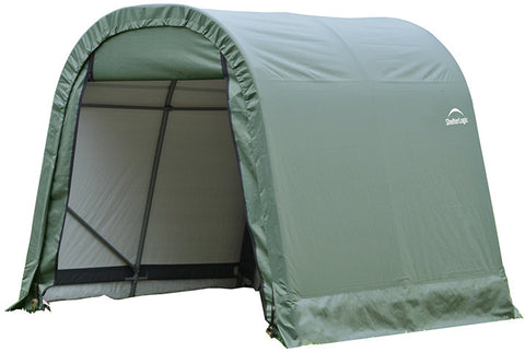 ShelterLogic 77827 11x12x10 ft.   Round Style Shelter - Green - ShelterMall - 1