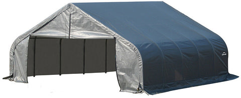 ShelterLogic 78431 22x20x10 ft.  Peak Style Shelter- Gray - ShelterMall