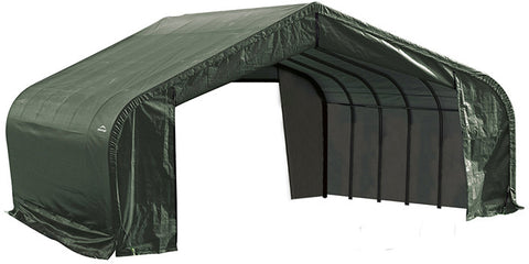 ShelterLogic 78641 22x24x10 ft.  Peak Style Shelter- Green - ShelterMall