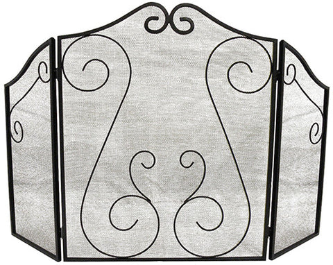 ShelterLogic 90394 Hearth Accessories Fireplace Scrollwork Screen - ShelterMall