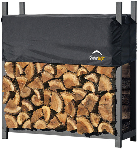 ShelterLogic 90474 Firewood Rack-in-a-Box Ultra Duty Rack with cover - 4 ft. - ShelterMall