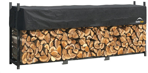 ShelterLogic 90476 Firewood Rack-in-a-Box Ultra Duty Rack with cover - 12 ft. - ShelterMall - 1