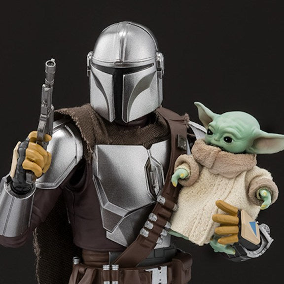 Bandai: S.H. Figuarts Star Wars Mandalorian In Beskar and The Child Promo Images and Info