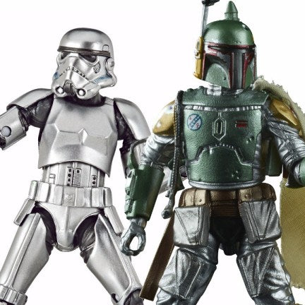 Hasbro: Star Wars Black Series Carbonized Boba Fett and Stormtrooper Promo Images and Pre-Order