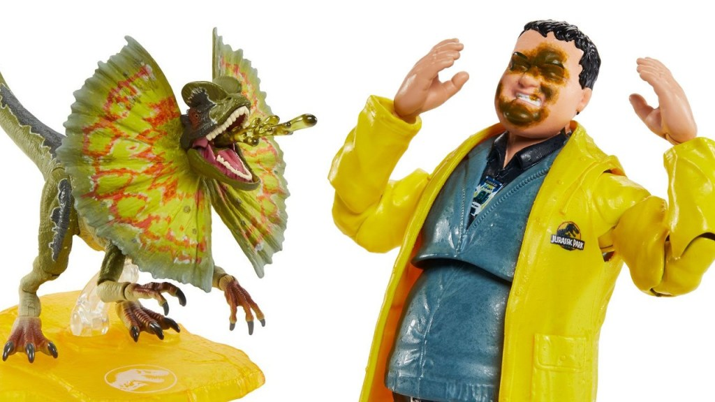 Mattel: Jurassic Park Amber Collection Nedry and Dilophosaurus