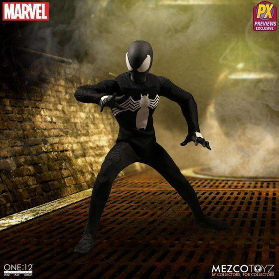 Marvel One:12 Collective Spider-Man (Black Suit) PX Previews Exclusive - AUGUST 2018