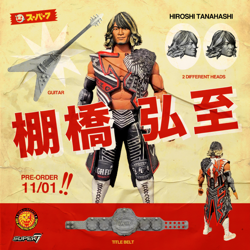 "Super7 Japan Pro-Wrestling Ultimates Wave 1 - 7"" Articulated Action Figure - Hiroshi Tanahashi - JULY 2020"