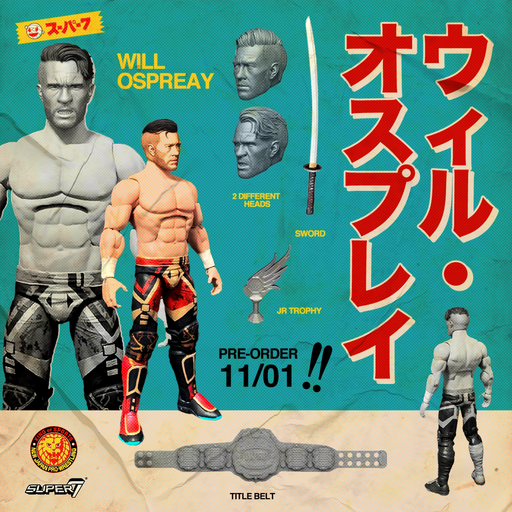 "Super7 Japan Pro-Wrestling Ultimates Wave 1 - 7"" Articulated Action Figure - Will Ospreay - JULY 2020"