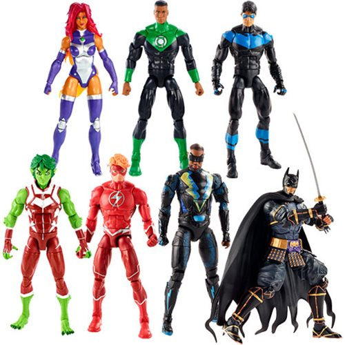 DC Multiverse Wave 11 (Collect 'n Connect Ninja Batman) - Complete Set of 6