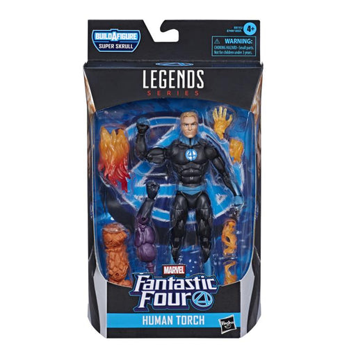 Fantastic Four Marvel Legends 6-Inch Action Figures (BAF Super Skrull) - Human Torch