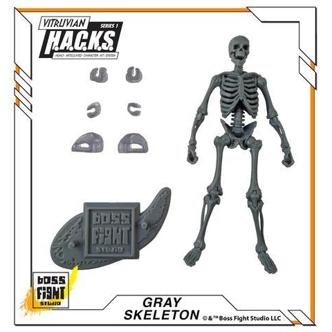 Vitruvian H.A.C.K.S. Action Figure Blank - Skeleton - Gray