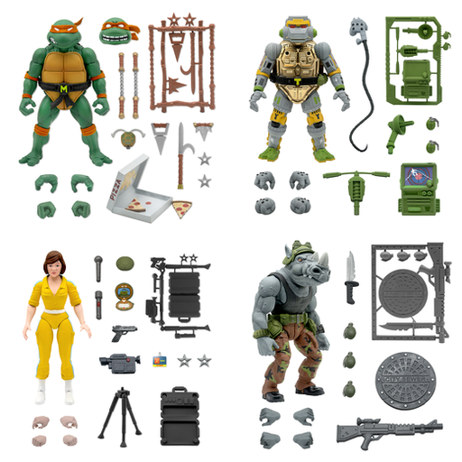 Teenage Mutant Ninja Turtles Ultimates Wave 3 - Set of 4 - JUNE 2021