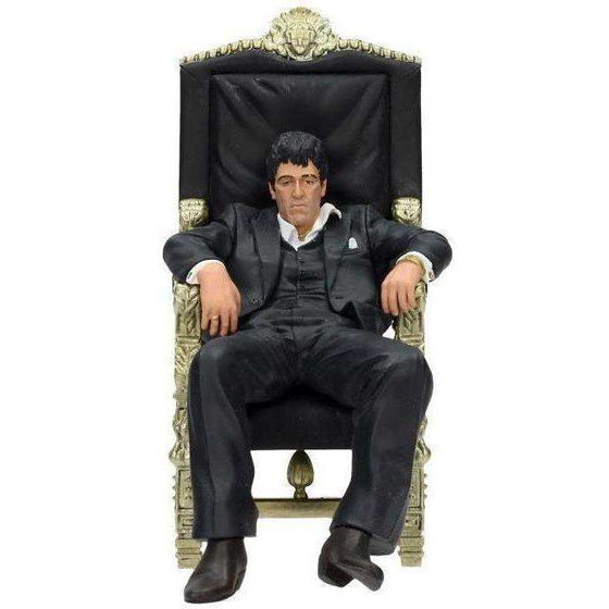 Scarface Movie Icons Tony Montana (On Throne) Figure - Q2 2019