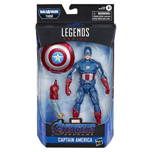 Avengers: Endgame Marvel Legends 6-Inch Action Figures Wave 3 (Fat Thor BAF) -  Captain America