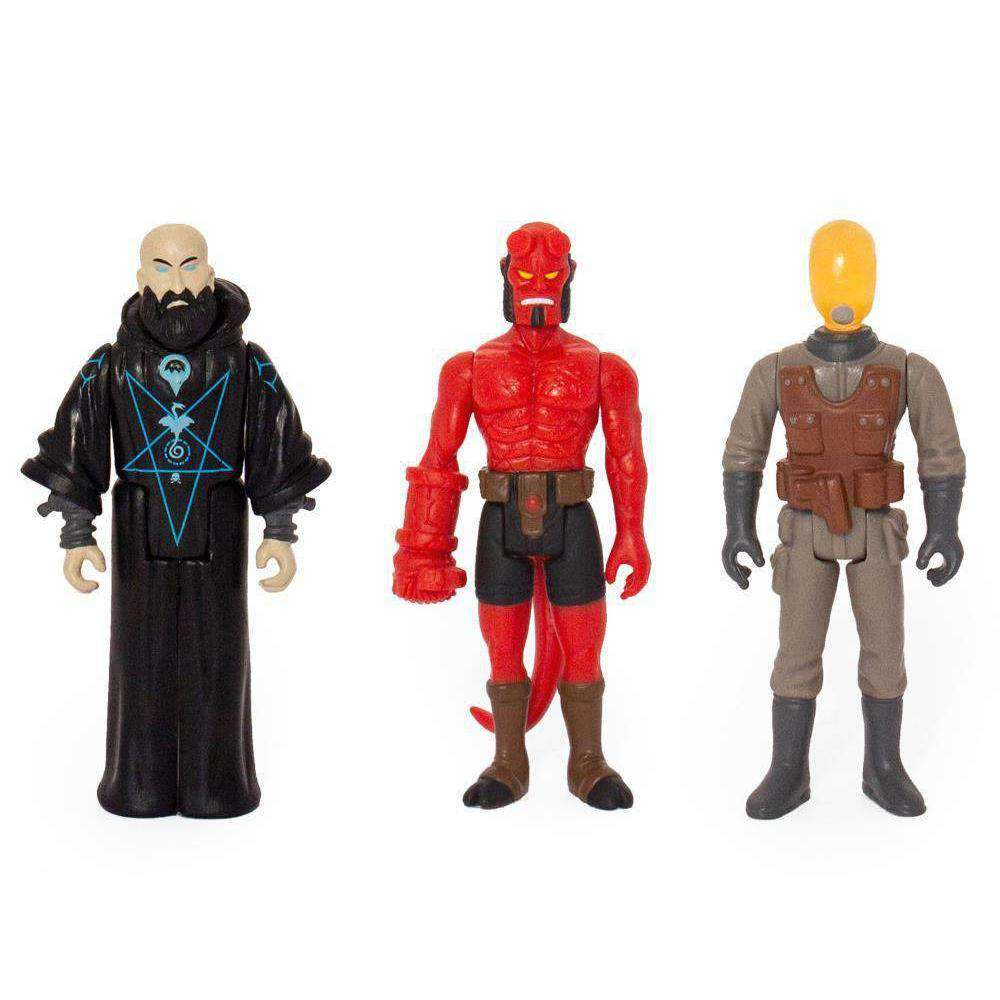 Hellboy Reaction Figure Three Pack B January 2019 Megalopolis Toys
