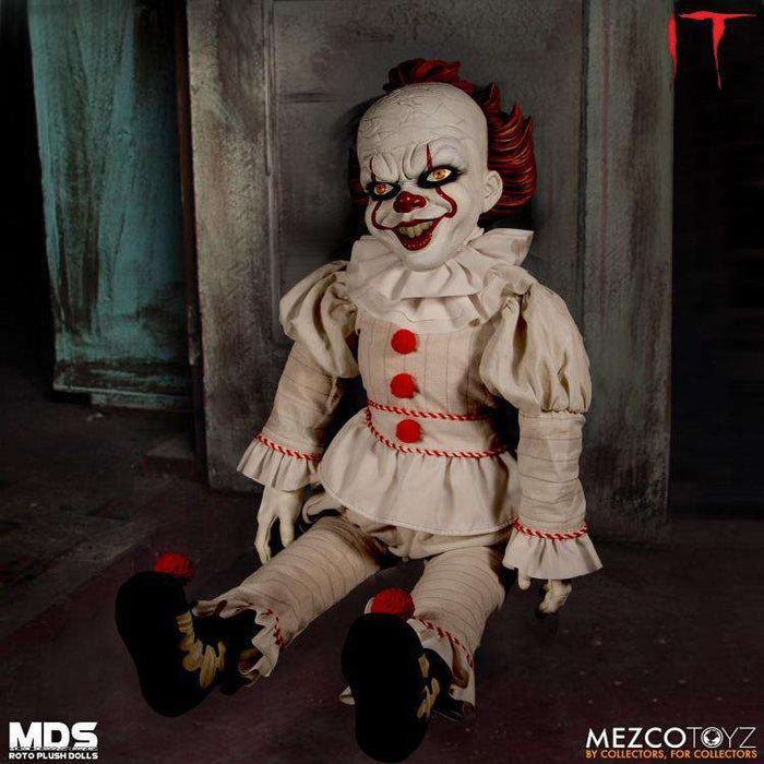 "MEZCO DESIGNER SERIE 18/"" Pennywise ROTO plush doll"