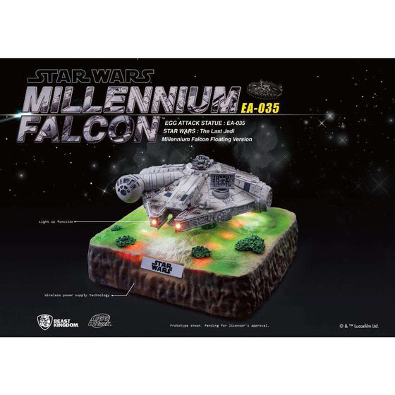 Star Wars Egg Attack EA-035 Magnetic Floating Millennium Falcon (The Last Jedi) PX Previews Exclusive- December 2018