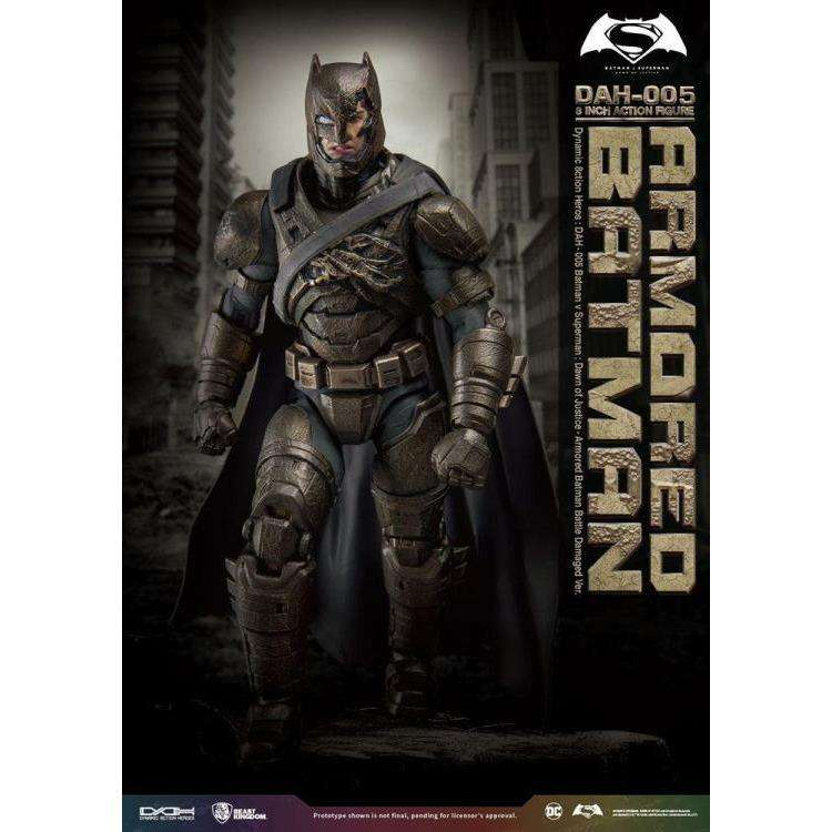 Batman v Superman Dynamic 8ction Heroes DAH-005 Armored Batman (Damaged Ver.) PX Previews Exclusive