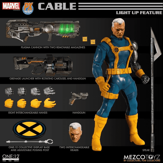 Marvel One:12 Collective Cable PX Previews Exclusive - JULY 2019