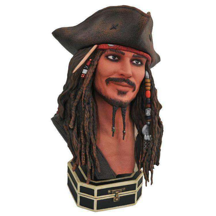 Pirates of the Caribbean Legends in 3D Jack Sparrow 1/2 Scale Limited Edition Bust - NOVEMBER 2019