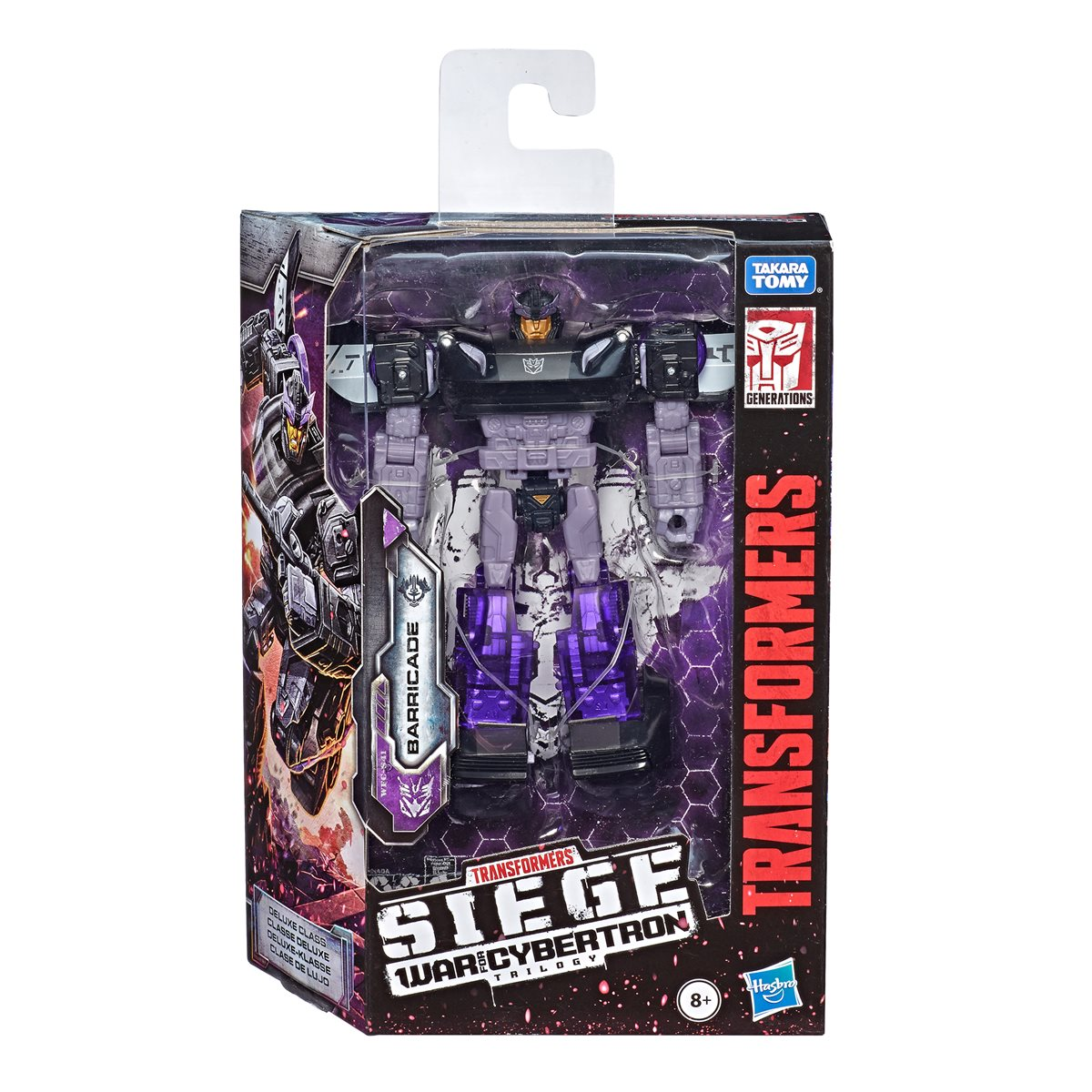 Siege Deluxe Barricade in stock Transformers toys Hasbro War For Cybertron
