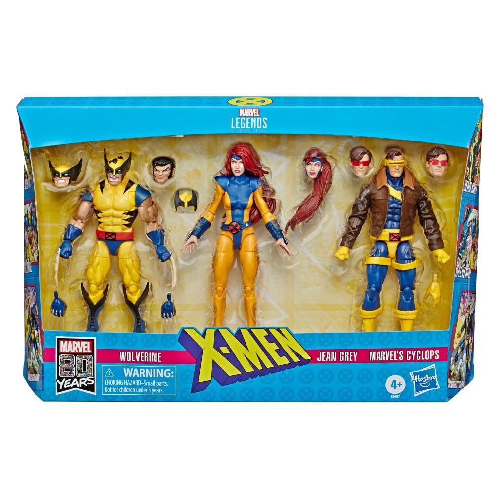 Marvel Legends X-Men Jean Grey, Cyclops, and Wolverine 6-Inch Action Figure 3-Pack - DECEMBER 2019