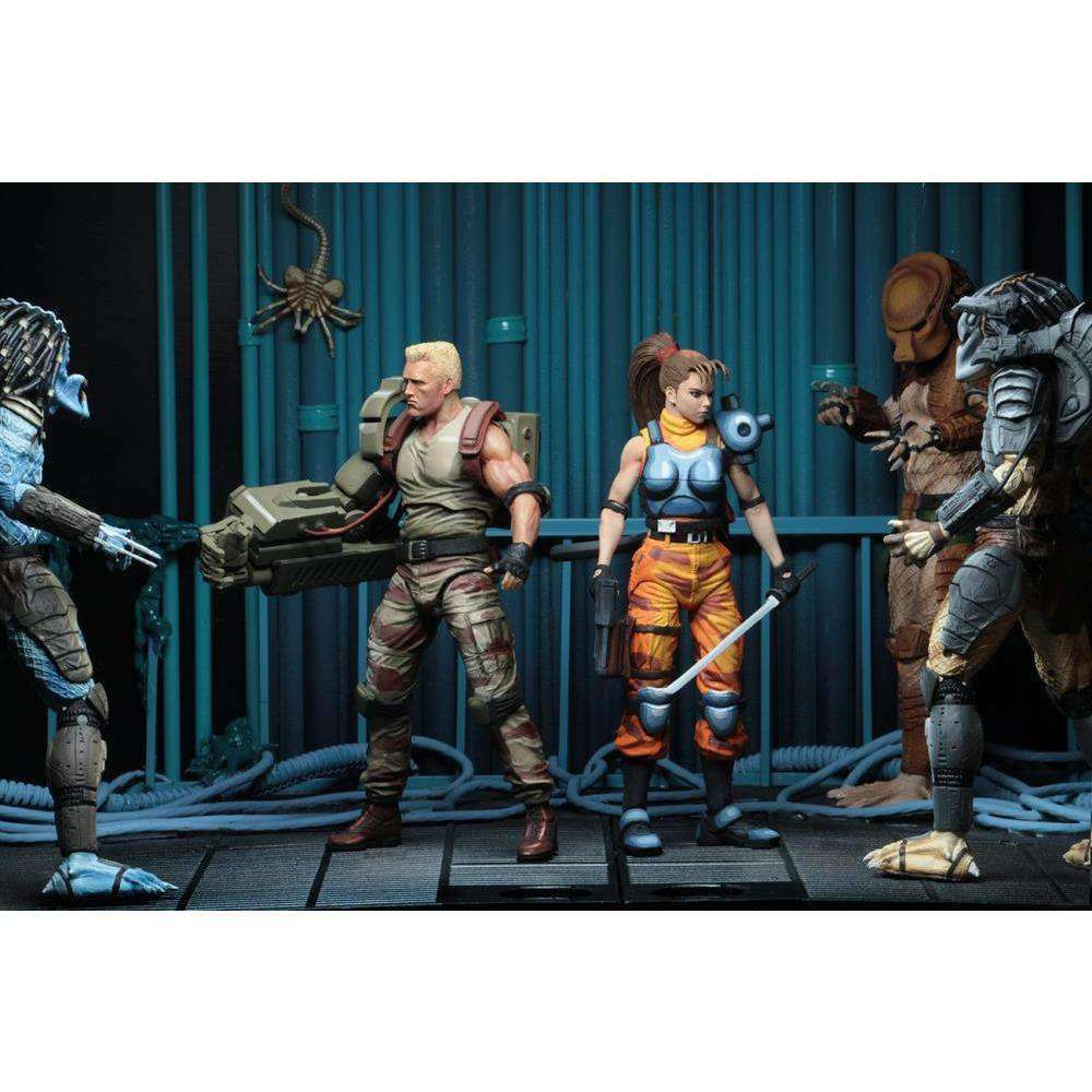 Alien vs Predator Dutch Schaefer & Linn Kurosawa (Arcade Appearance) Action Figure Two Pack