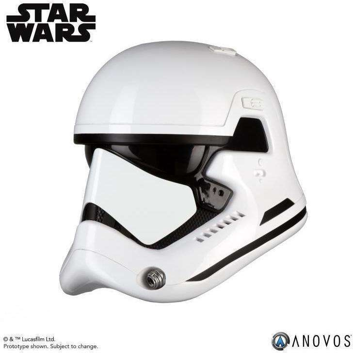 Star Wars First Order Stormtrooper (The Last Jedi) 1:1 Scale Wearable Helmet (Upgraded) - Q2 2019