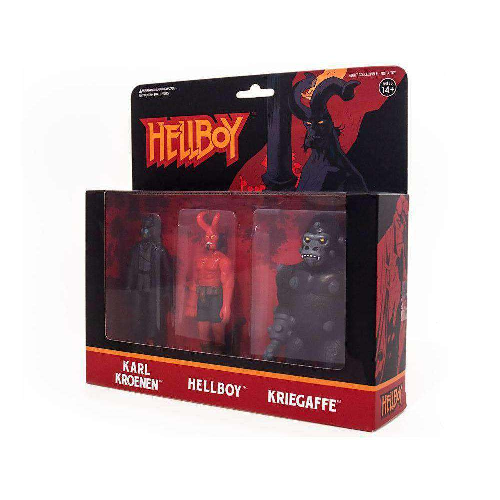 Hellboy Reaction Figure Three Pack A January 2019 Megalopolis Toys