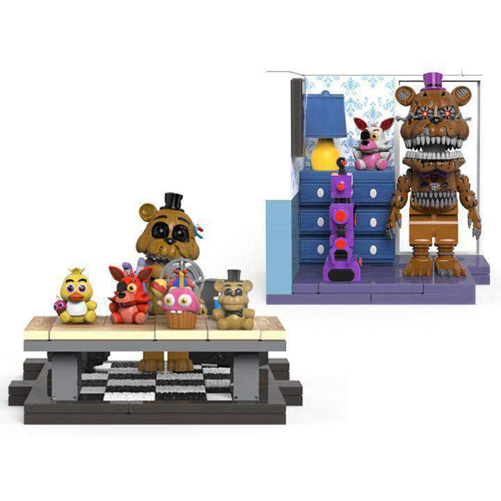 Five Nights at Freddy's The Office Desk & Right Dresser With Door Small Construction Sets - SEPTEMBER 2019