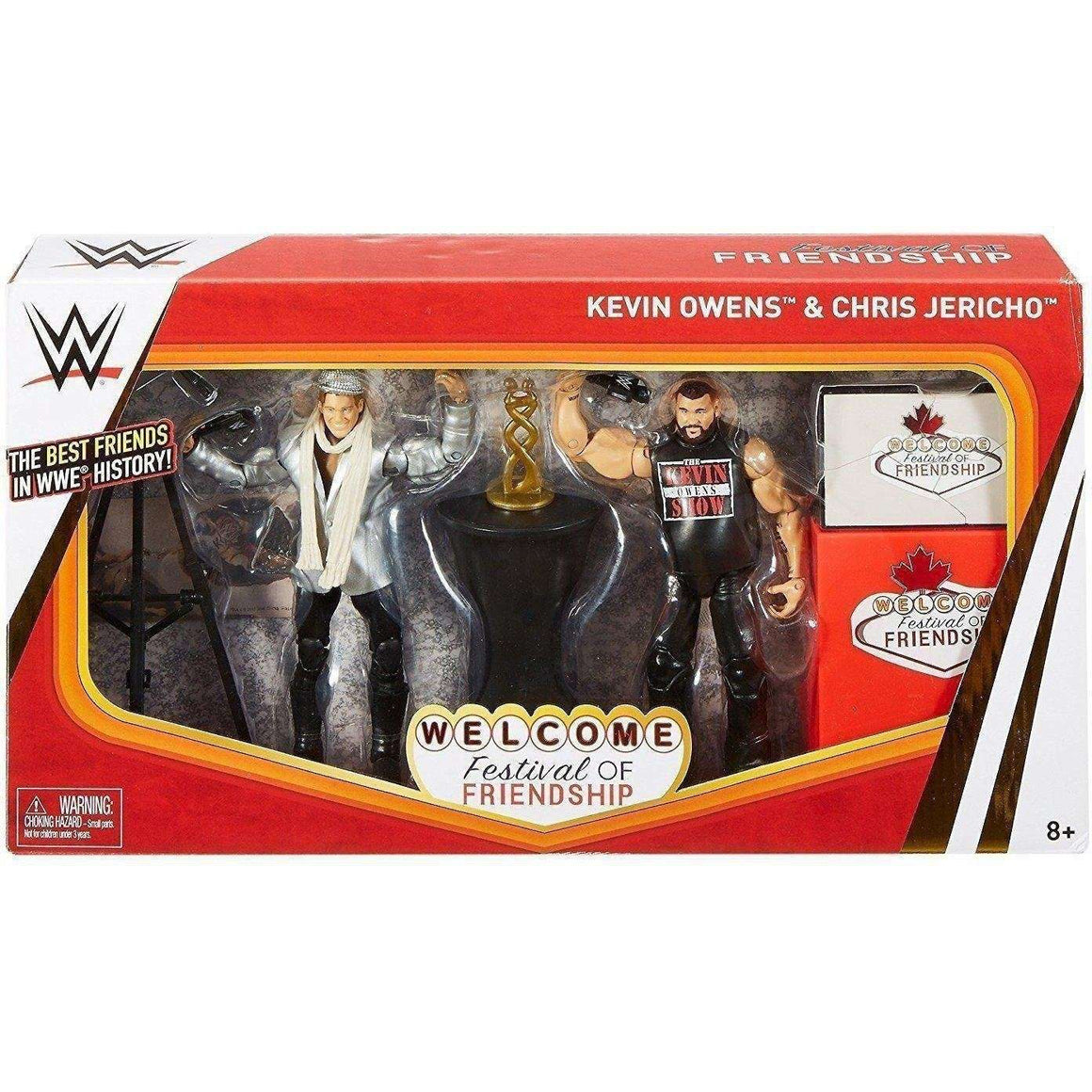 WWE Welcome Festival Of Friendship Kevin Owens & Chris Jericho Figures - 2 Pack (DAMAGED BOX)