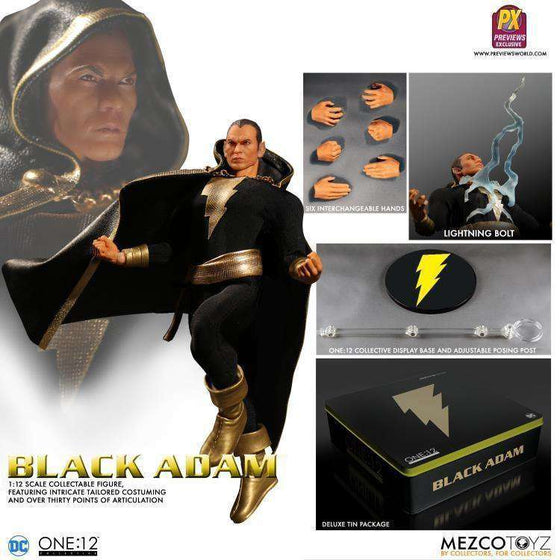 One:12 Collective Black Adam PX Previews Exclusive