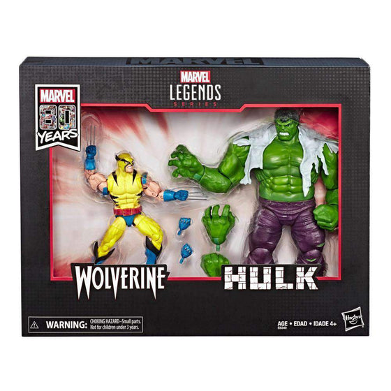 Marvel Comics 80th Anniversary Marvel Legends Hulk Vs. Wolverine Two-Pack - AUGUST 2019