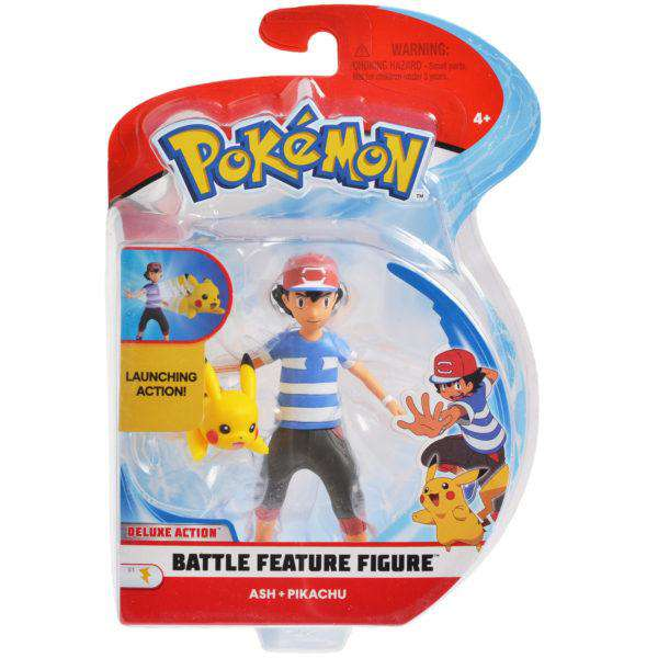Pokémon 4.5 Inch Battle Feature Figures - Ash & Pikachu