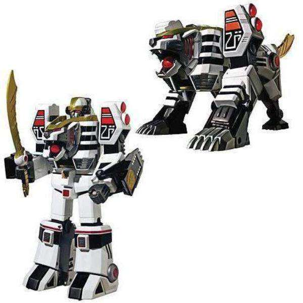 Mighty Morphin Power Rangers White Tigerzord Legacy MegaZord Die-Cast Action Figure