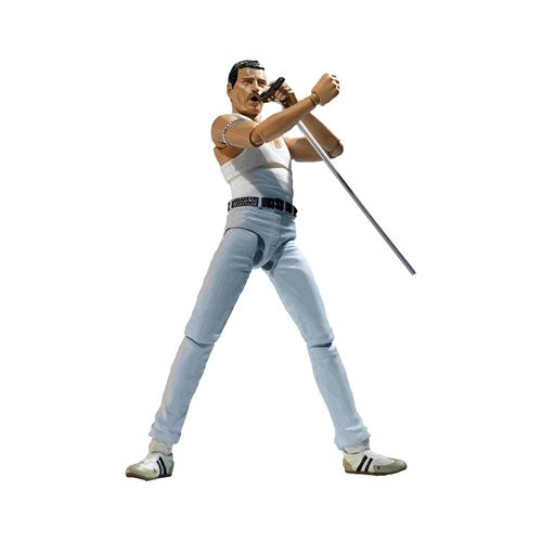 Queen Freddie Mercury Live Aid Version SH Figuarts Action Figure - APRIL 2020