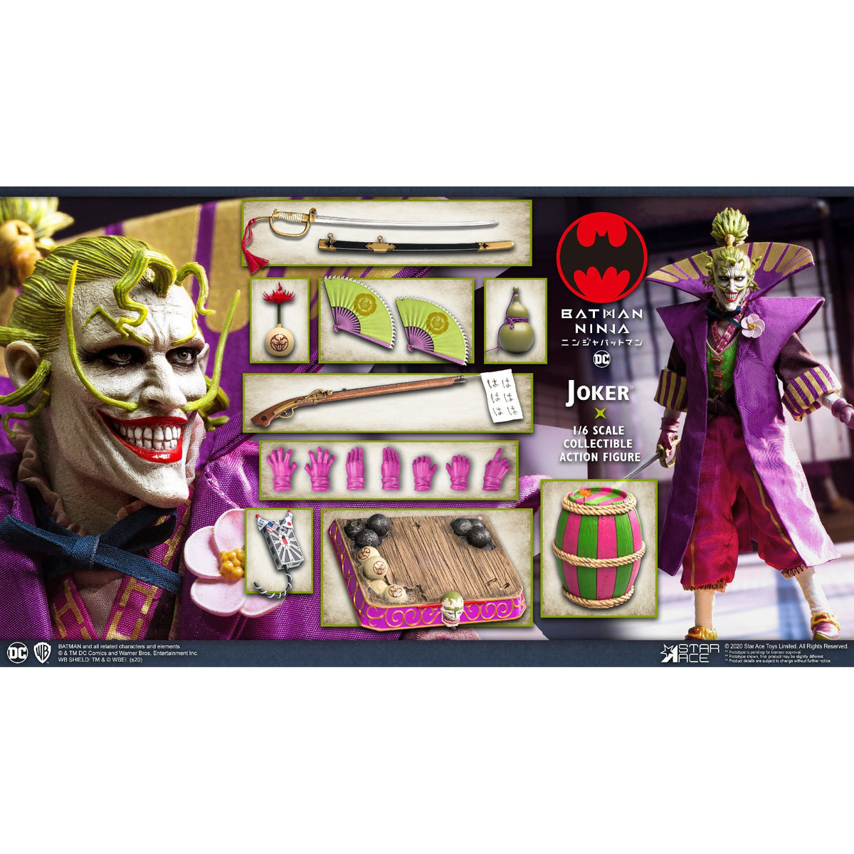 Batman Ninja Joker 1 6 Scale Deluxe Action Figure March 2021 Cool Collectibles And Unique Gift Items