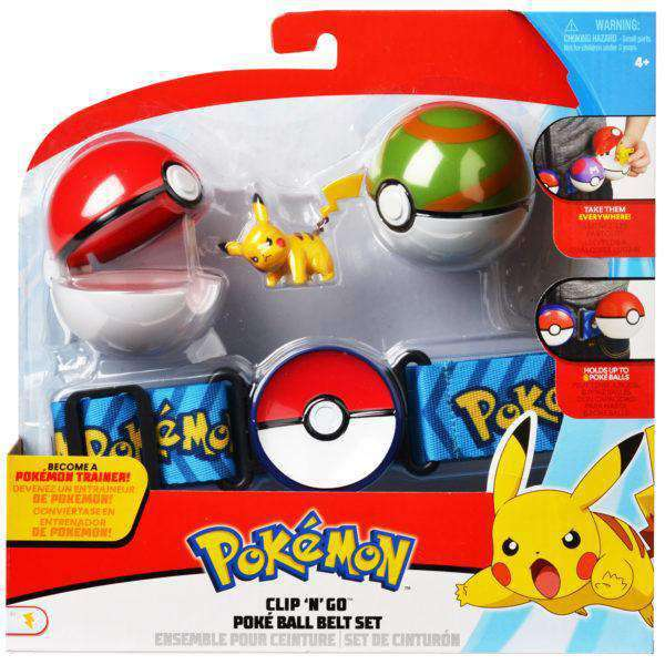 Pokémon Poké Ball Clip N Go Belt Set