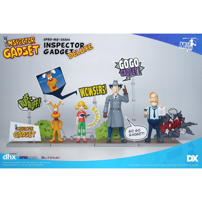 Inspector Gadget MEGAHERO SERIES - Inspector Gadget 1:12 Scale Action Figure DX.ver Set of 4 - Q4 2020