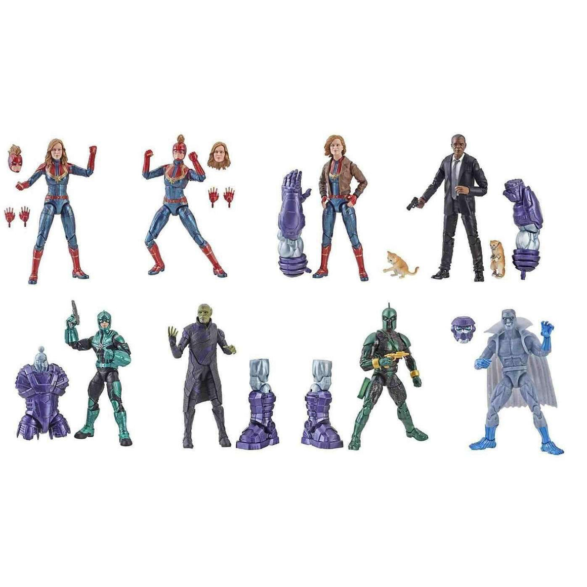 Captain Marvel (Kree Sentry BAF) Marvel Legends Wave 1 - Case of 8