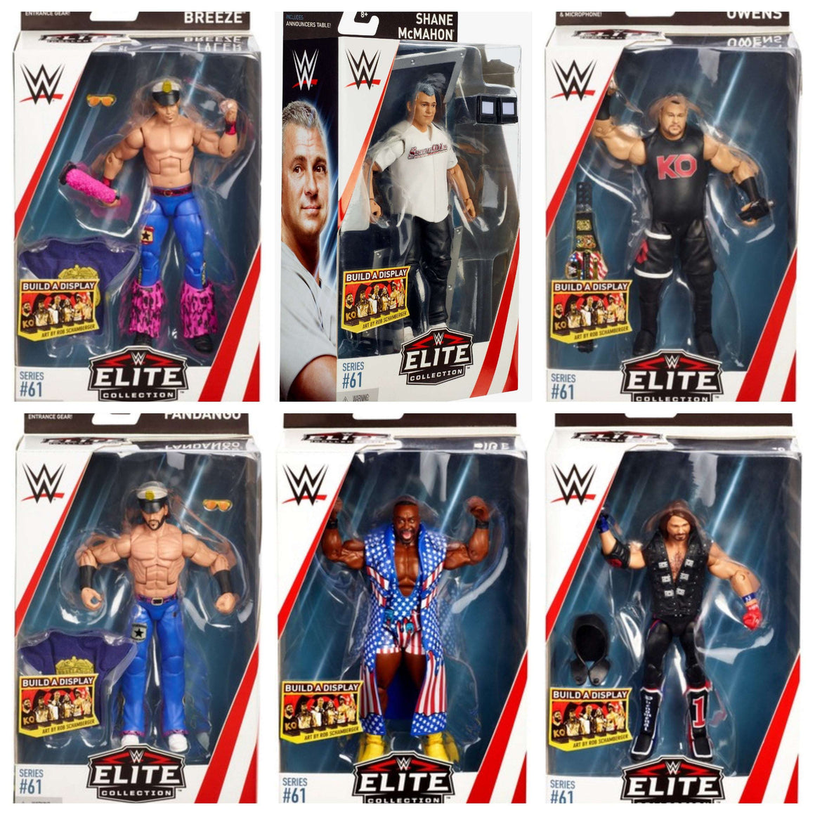WWE Wrestling Elite Series 61 - Set of 6 Action Figures